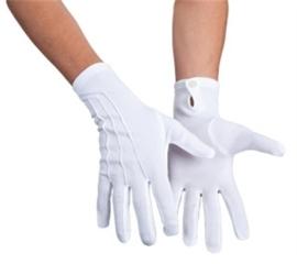 Handschoen wit met drukknoop