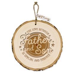 Boomschijf decoratie - Father & Son   