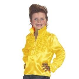 Disco blouse kinderen geel OP=OP