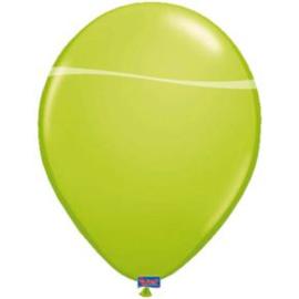Kwaliteitsballon metallic lime groen 10 stuks