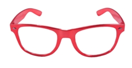 Moderne bril rood metallic