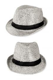 Tribly hoed zilver glitter