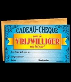 Cadeau cheque vrijwilliger