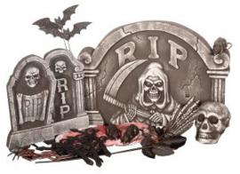 Set halloween tombstone