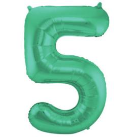 Folieballon 5 mat groen
