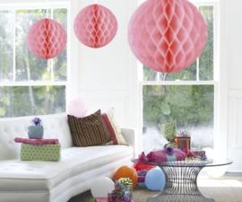 Honeycomb deco groot roze