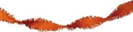 Crepe guirlande oranje 6 meter