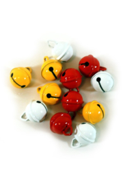 Belletjes rood, wit en geel