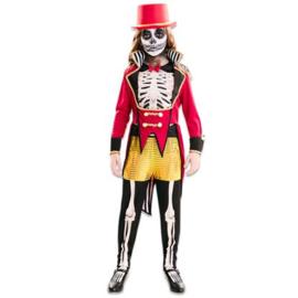 Circusartiest skelet meisje