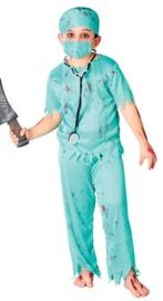 Zombie chirurg jongens kostuum