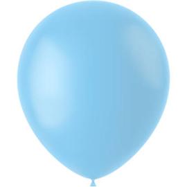 Ballonnen Powder Blue Mat 33cm - 50 stuks