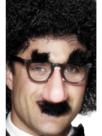 Bril met neus en snor
