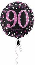 Folieballon HBD sparkling pink 90 (45cm)