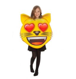 Kinder Emoji hart kat kostuum
