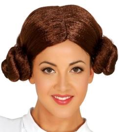 Prinses Leia pruik