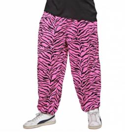 80's zebra pink broek