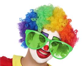 Clownsbril Jumbo neon groen