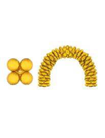 Folieballon goud rond voor boog 10 stuks