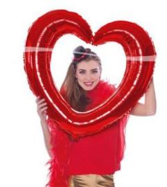Folieballon selfie hart rood