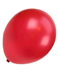 Kwaliteitsballon metallic rood 10 stuks