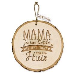 Boomschijf decoratie - Mama  