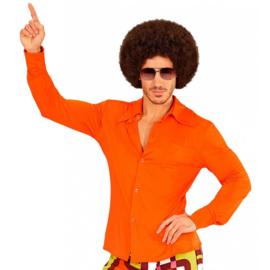 Groovy 70's  heren shirt oranje