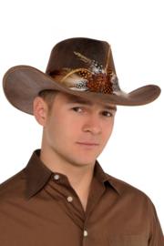 Cowboyhoed De luxe met verenband
