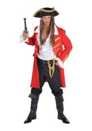 Piraat de luxe mantel rood