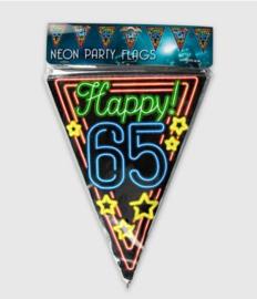 Vlaggenlijn neon 10 meter | 65 jaar