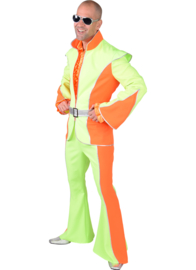 Disco kostuum fluor