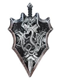 Viking schild met zwaard