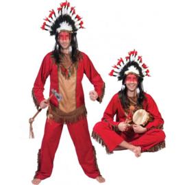 Indianen kostuum red hawk