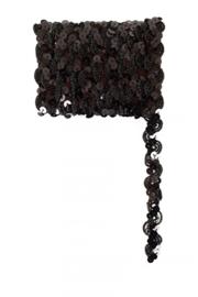 Paillettenband golvend zwart 3m