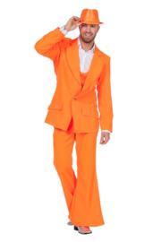Disco fever kostuum neon oranje