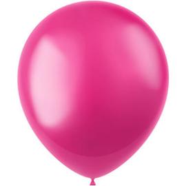 Ballonnen Radiant Fuchsia Pink Metallic 33cm - 50 stuks