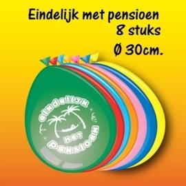 Ballonnen Pensioen multicolor