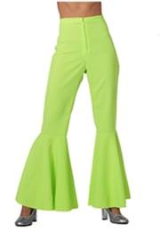 Disco broek dames neon groen