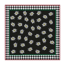 Edelweiss halsdoek zwart