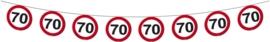 Slinger 70 jaar verkeersbord