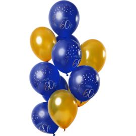 Ballonnen Elegance true blue 60 jaar