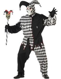 Evil jester kostuum