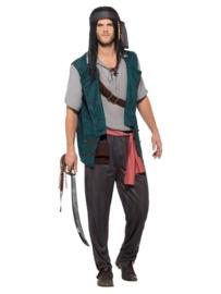 Pirate deckhand kostuum