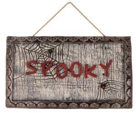 Deurbord spooky met sensor