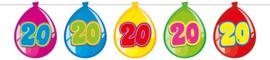 Vlaggenlijn ballonnen 20 jaar