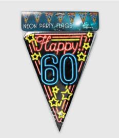Vlaggenlijn neon 10 meter | 60 jaar