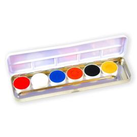 Aqua facepaint holland palet (6 kleuren)