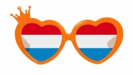 Bril Oranje hart kroon