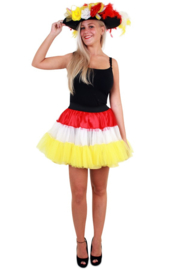 Petticoat 3-laags wit / geel / rood