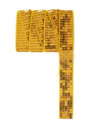 Paillettenband recht geel 3m