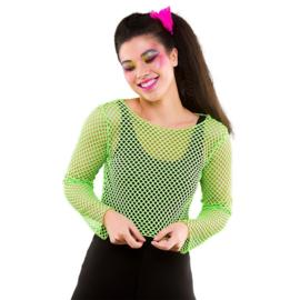 Kort net shirt neon groen
